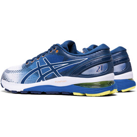 asics Gel-Nimbus 21 Shoes Men white/lake drive